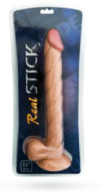 смотреть фото фаллоимитатор real stick 28 см. производитель ToyFa