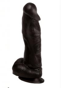 Фаллоимитатор черный Конг ПВХ 20,5х4,9 см