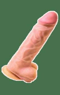 Фаллоимитатор с мошонкой Гигант 27х6,8 см.