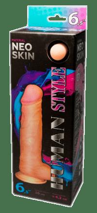 Фаллоимитатор с мошонкой Human Style 16 см.
