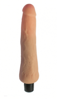смотреть фото вибратор ультраскин телесный 24х3,8 см. производитель Eroticon