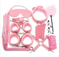 Розовый фетиш-набор из 10 предметов