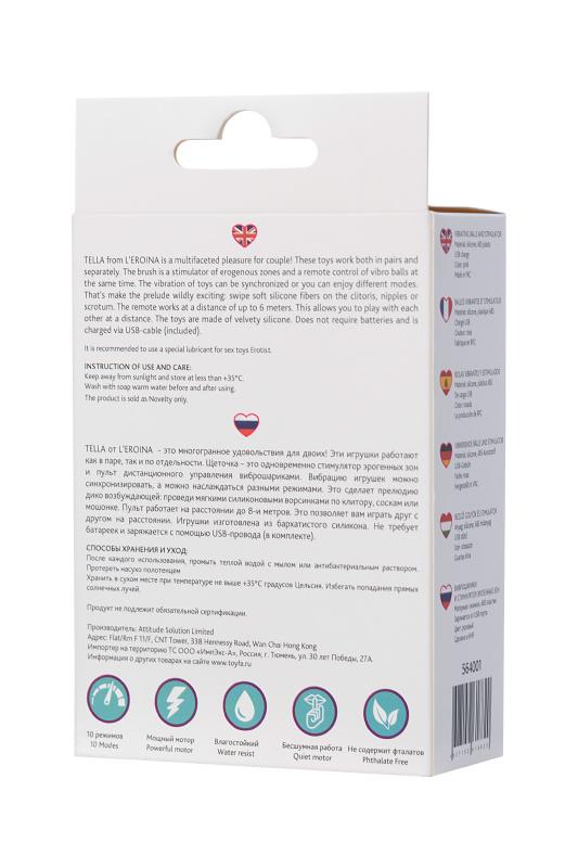 виброшарики и стимулятор внешних эогенных зон l'eroina by toyfa tella, силикон, розовые, ø 3,4 см, tfa-564001 TFA-564001