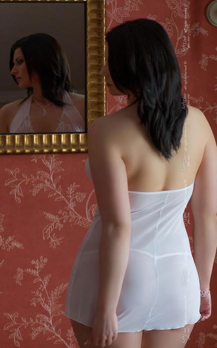 marylin - ночная сорочка и стринги белые-xxl TFA-101729