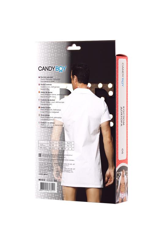 костюм доктора candy boy daniel (халат, боксеры, стетоскоп, значок), бело-красный, os, tfa-801015 TFA-801015
