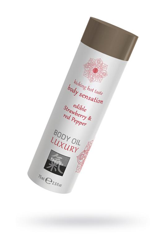Съедобное масло для тела Клубника и Красный перец, 75мл., TFA-67026