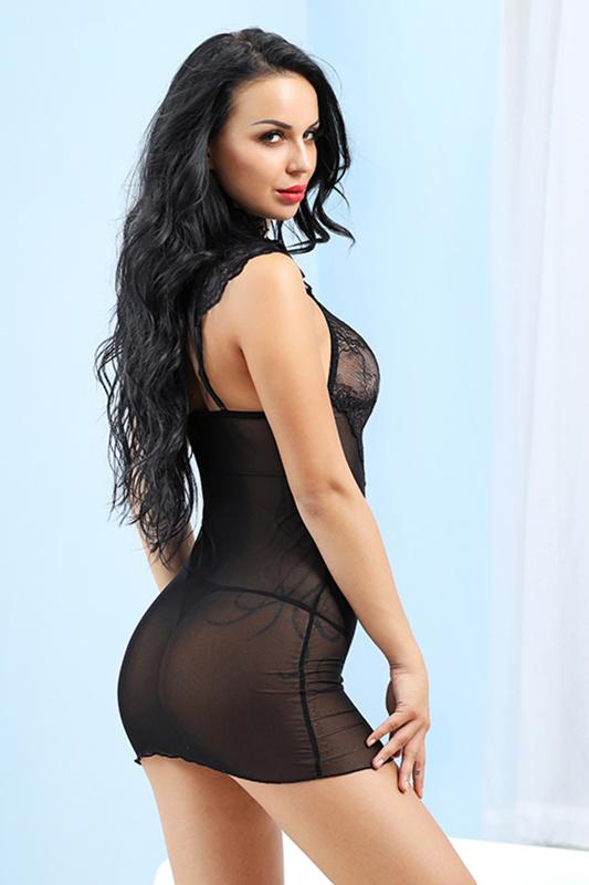 xl комбинация и стринги candy girl luscious, черный, tfa-840062-blk-xl TFA-840062-BLK-XL