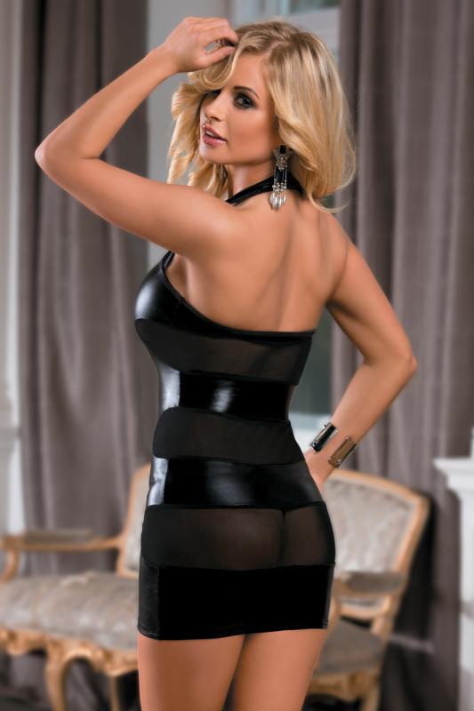платье candy girl aspen, wetlook, черное, xl, tfa-840021-blk-xl TFA-840021-BLK-XL