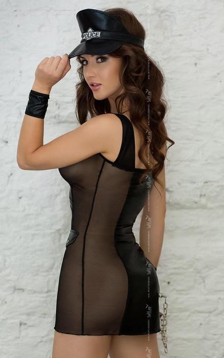 polly - костюм полицейского (3 предм.) черный-s/m TFA-183016