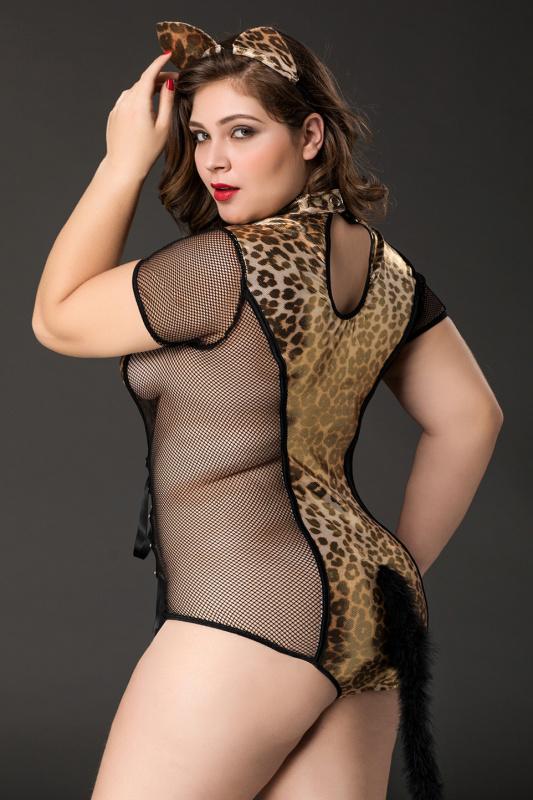 костюм кошки candy girl tawny (боди, ушки) черно-леопардовый, 2xl, tfa-841050 TFA-841050