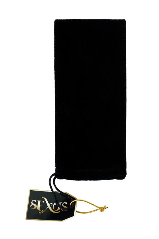 анальная втулка sexus glass, стеклянная, бело-чёрная, 11,6 см, tfa-912291 TFA-912291