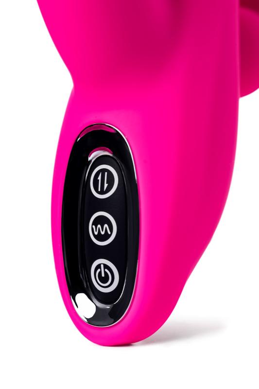тройной вибростимулятор jos spanky, силикон, розовый, 21 см, tfa-783030 TFA-783030