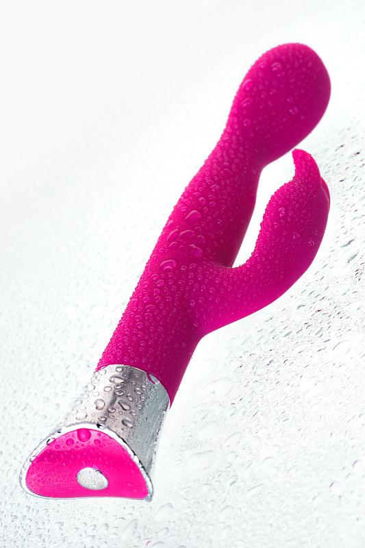 вибратор с клиторальным стимулятором jos loly, с гибкой головкой, силикон, розовый, 21,6 см, tfa-783013 TFA-783013