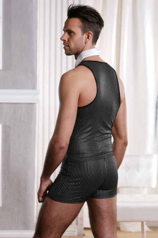 костюм джентльмена candy boy (жилет, трусы, воротник) черно-белый-os TFA-801006