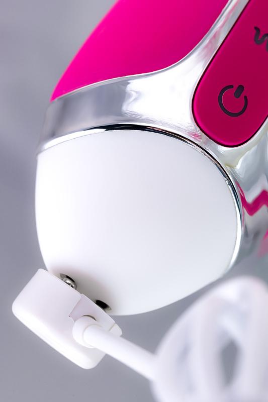 вибратор с клиторальным стимулятором jos balle, с движущимися шариками, силикон, розовый, 23 см, tfa-783002 TFA-783002