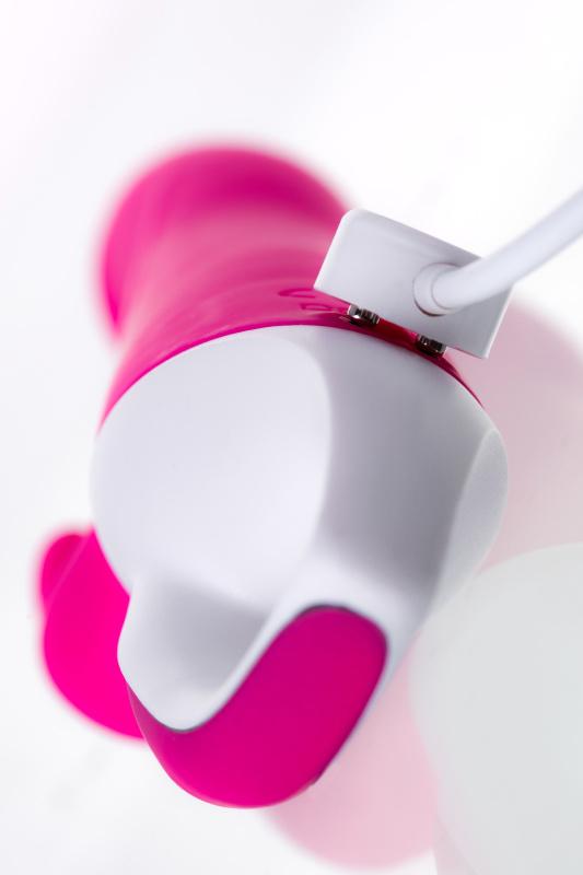 вибратор с клиторальным стимулятором jos elly, с подогревом, силикон, розовый, 21,5 см, tfa-783003 TFA-783003