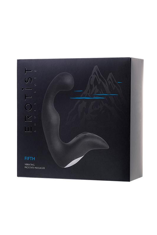 вибростимулятор простаты erotist, силикон, черный, 14,1 см. TFA-541310