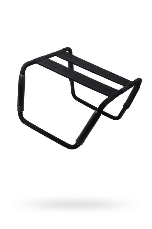Раскладной стул для любовных игр Romfun, металл и неопрен, чёрный, TFA-YDA-012