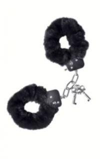 наручники theatre меховые черные TF-951031
