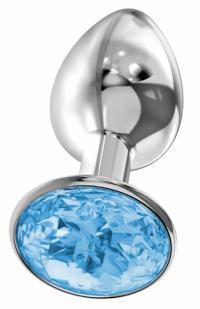 анальная пробка diamond blue sparkle small 4009-04Lola