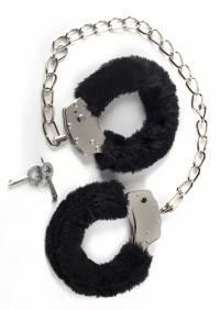 меховые оковы bondage черные IN-1020-01Lola