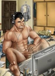 Взаимный мужской онанизм #11